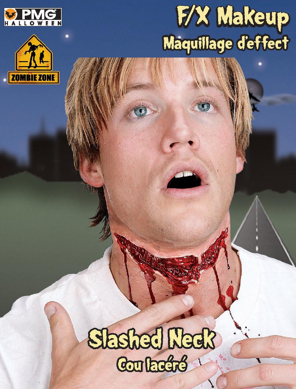 Zombie Zone Slashed Neck Appliance