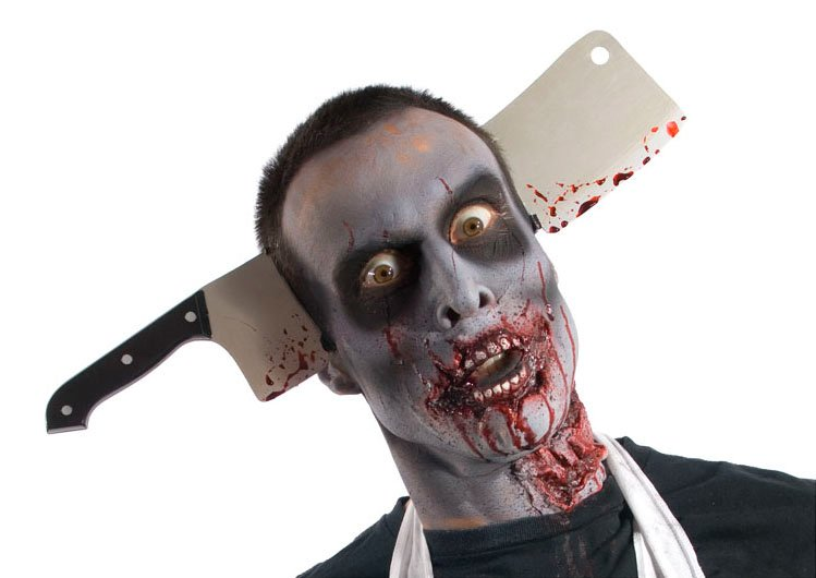 Zombie Cleaver Thru Head