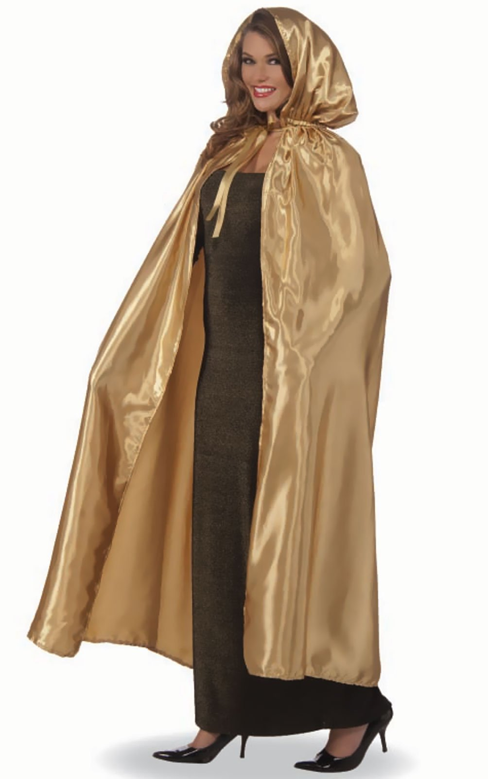 Fancy Masquerade Gold Adult Cape