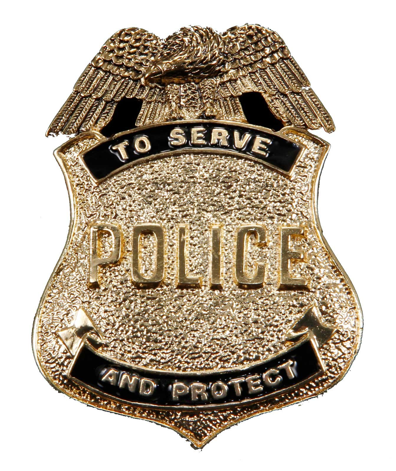 Antique Gold Police Badge