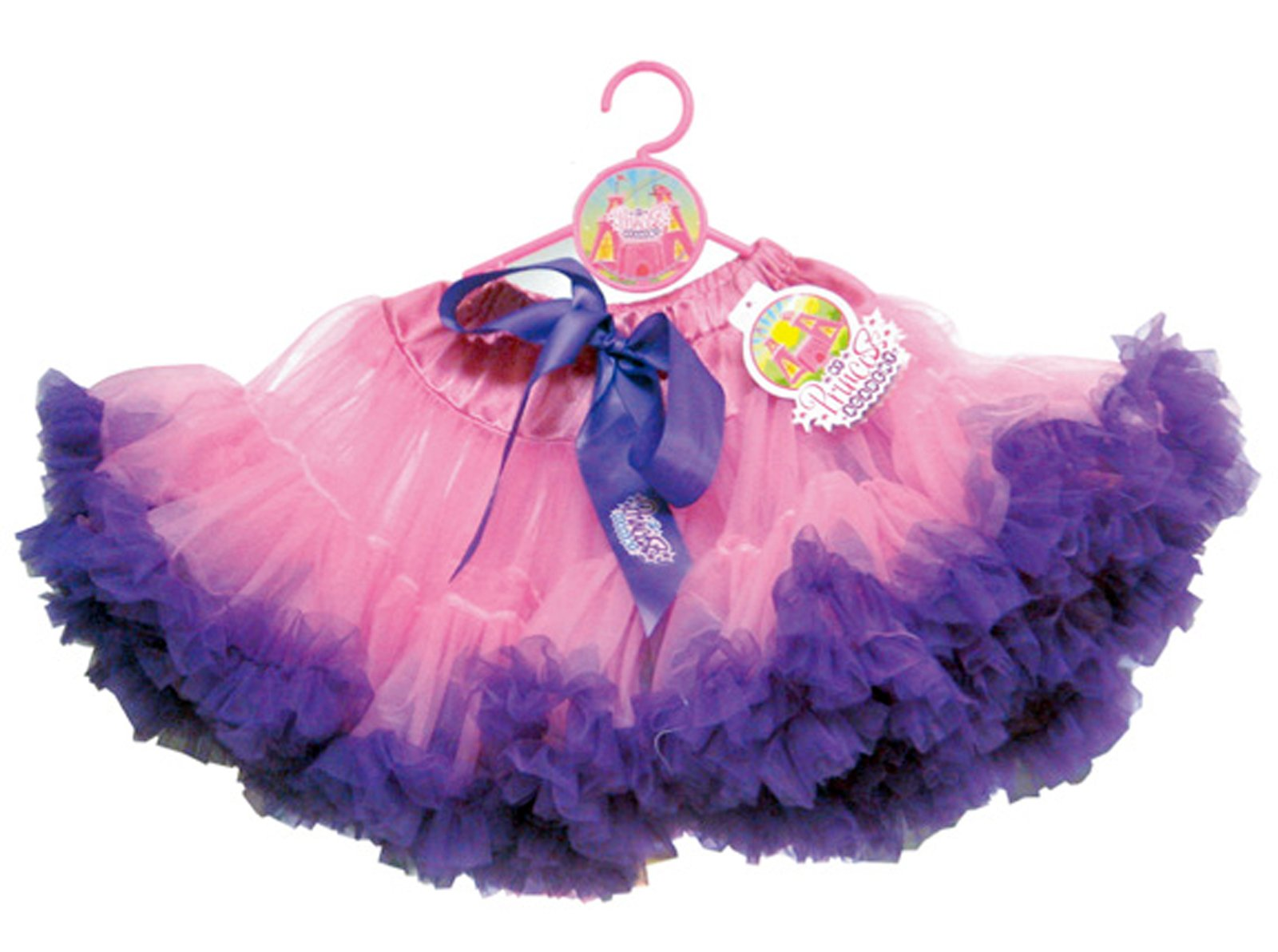 Fuchsia Tutu with Purple Trim Child