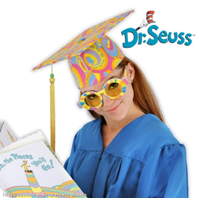Dr. Seuss Graduation Glasses