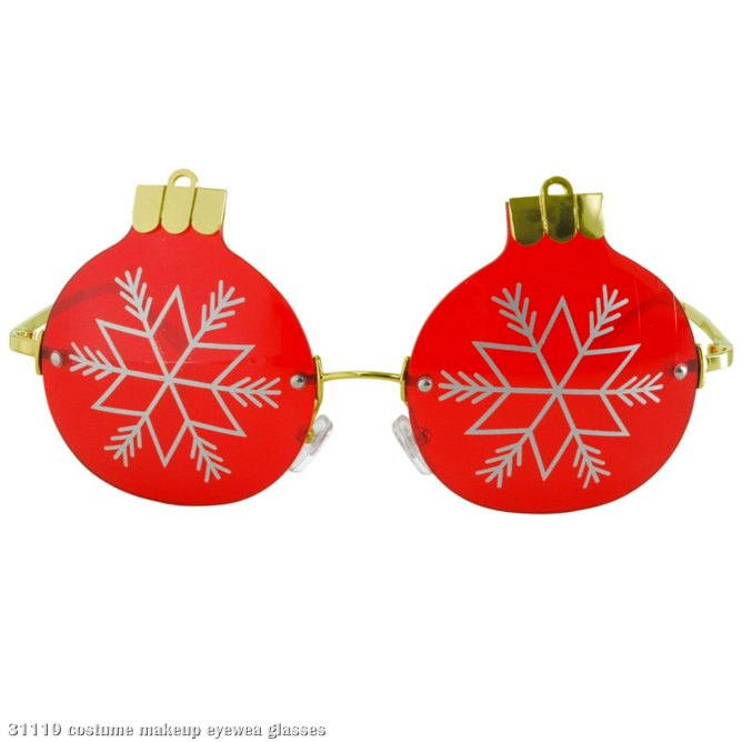 Rimless Christmas Ornament Glasses