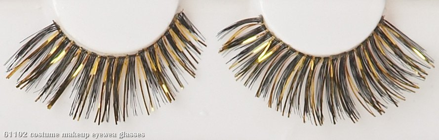 Black/Gold Eyelashes