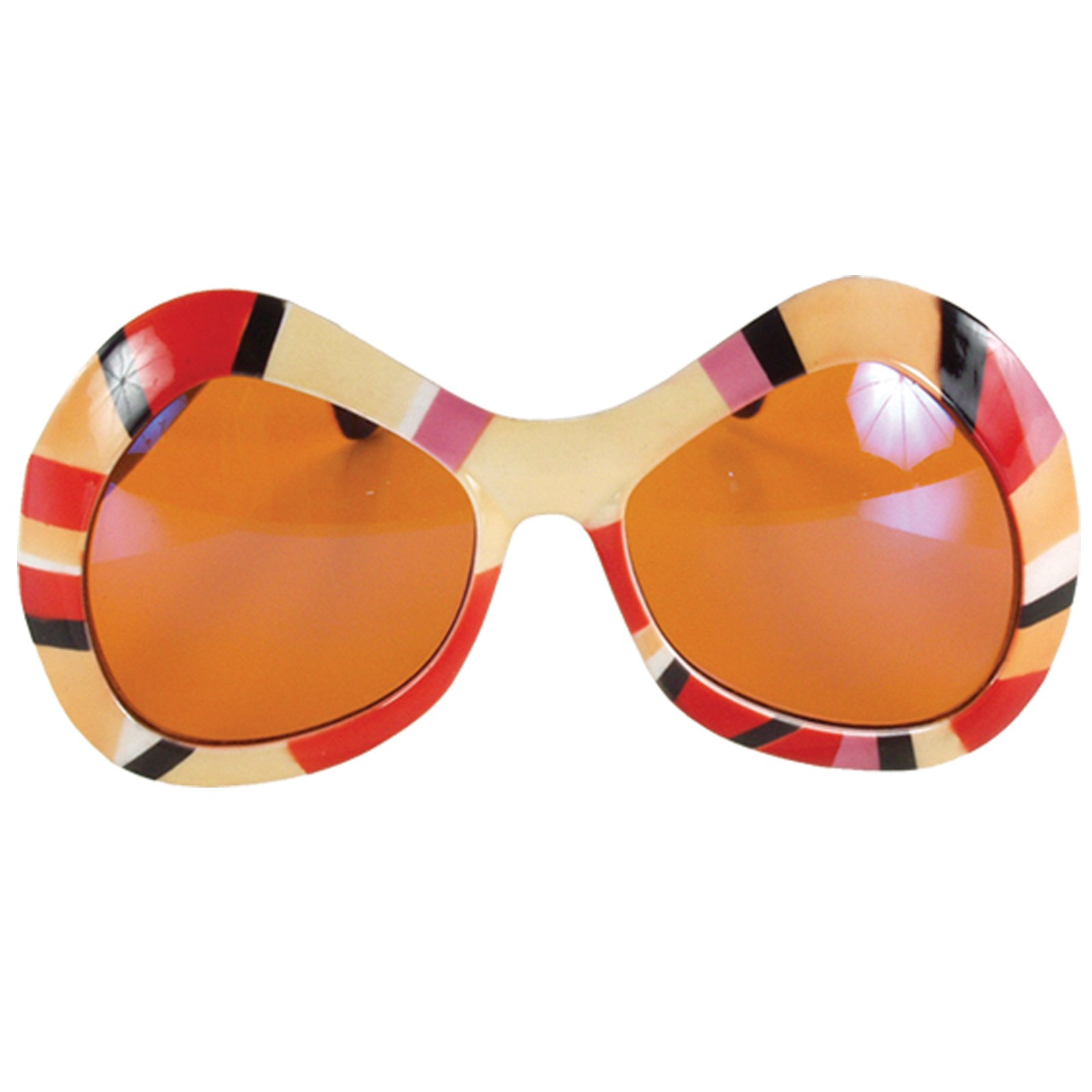 80's Mod Sunglasses - Orange, Pink & Red