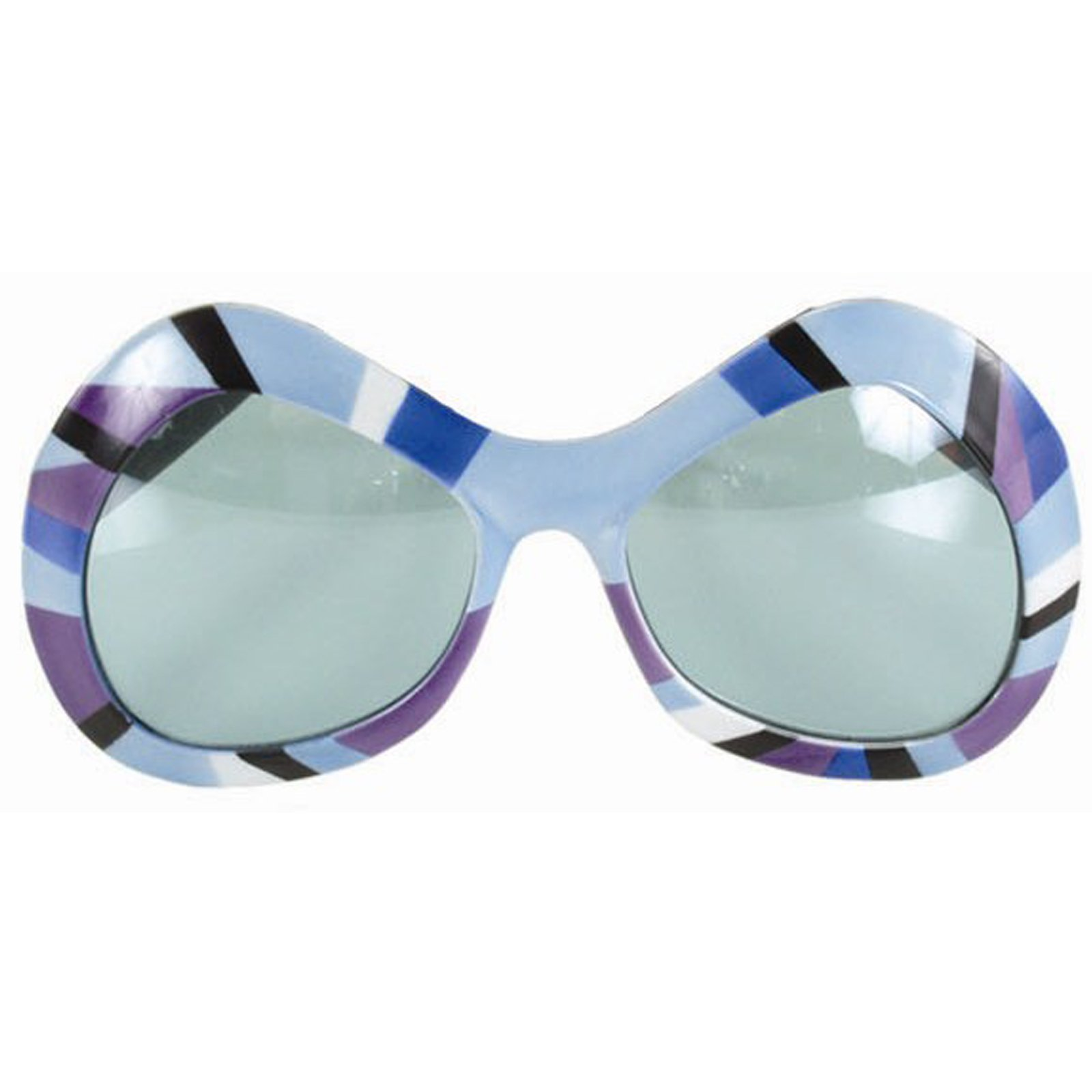 80's Mod Sunglasses - Purple, Green & Blue