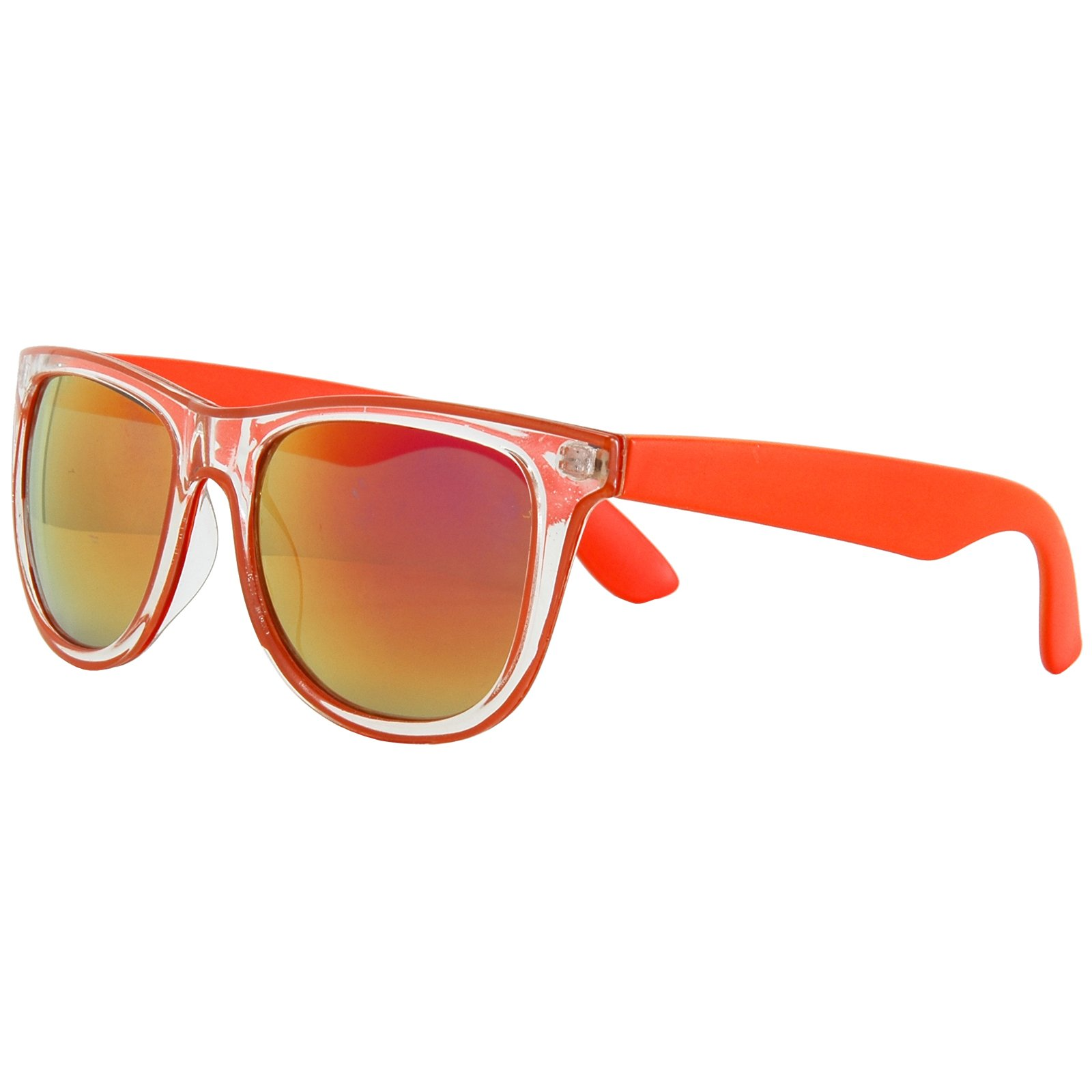 80's Neon Rimmed - Orange Sunglasses