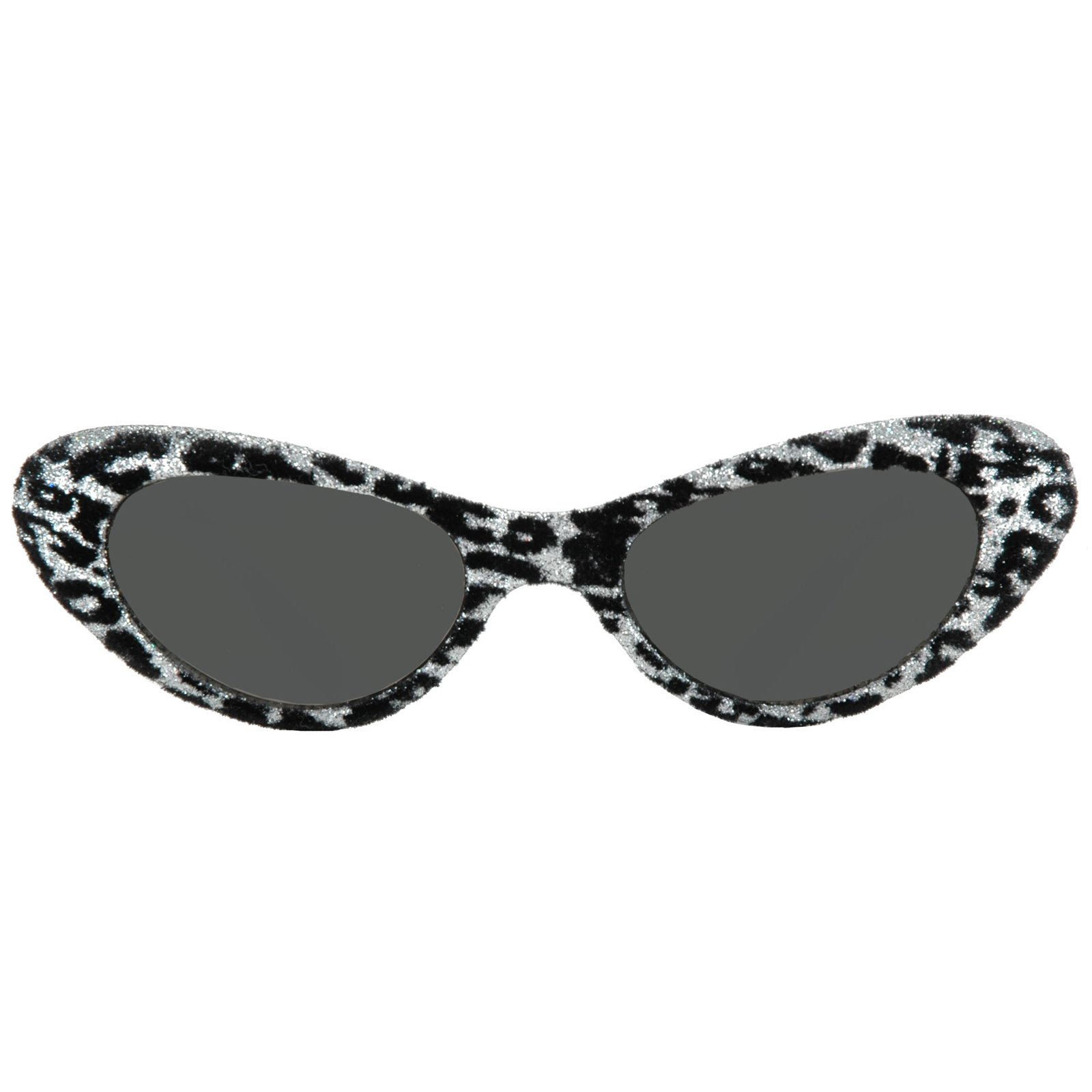 1950's Cat Eye Glasses - Silver & Black
