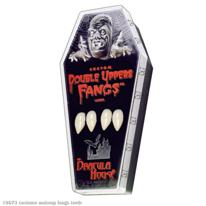 Double Upper Fangs In Coffin