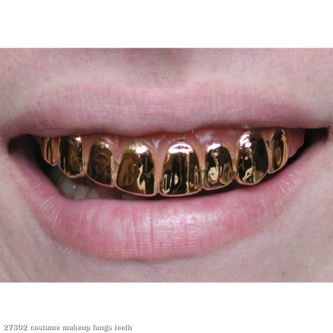 Gold Metallic Grillz Teeth