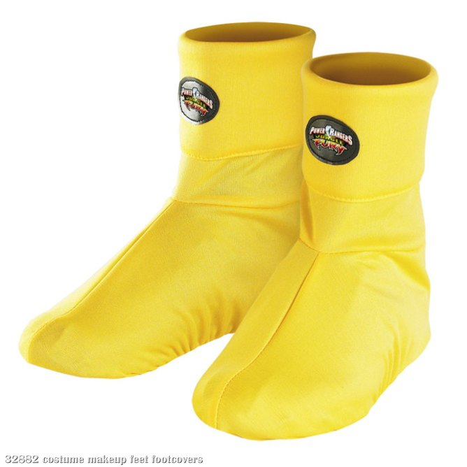 Power Rangers Jungle Fury Yellow Ranger Boot Covers