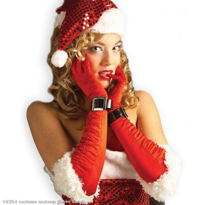 Long Sexy Miss Santa Gloves