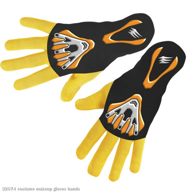 Power Rangers Jungle Fury Yellow Ranger Gloves