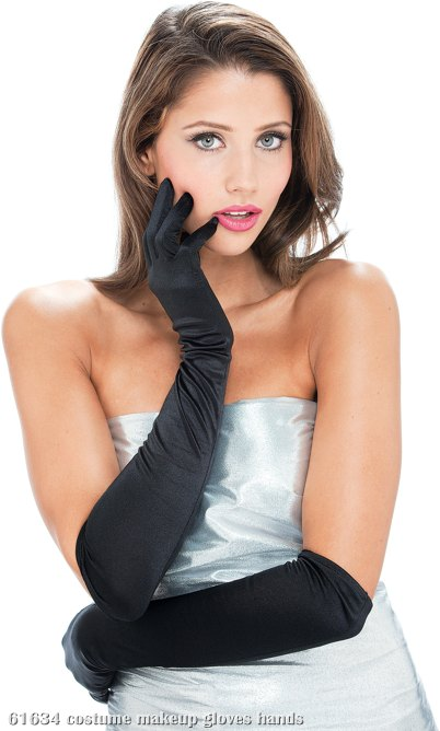 French Kiss Black Gloves