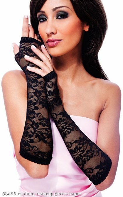 Lace Fingerless Gloves Adult
