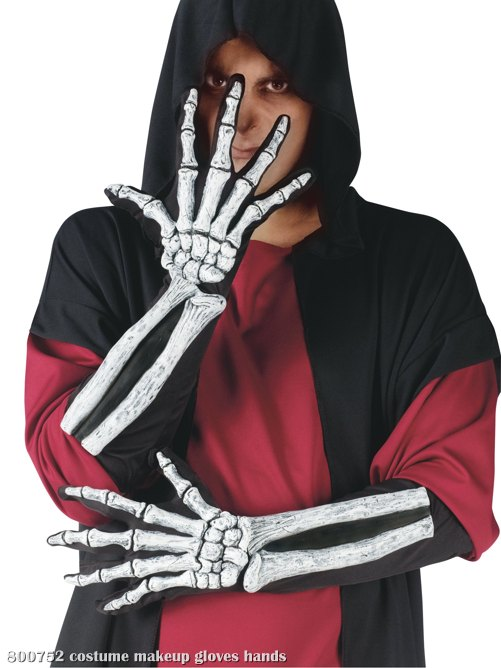 Skeleton Glove And Wrist Bone Gloves (Adult)