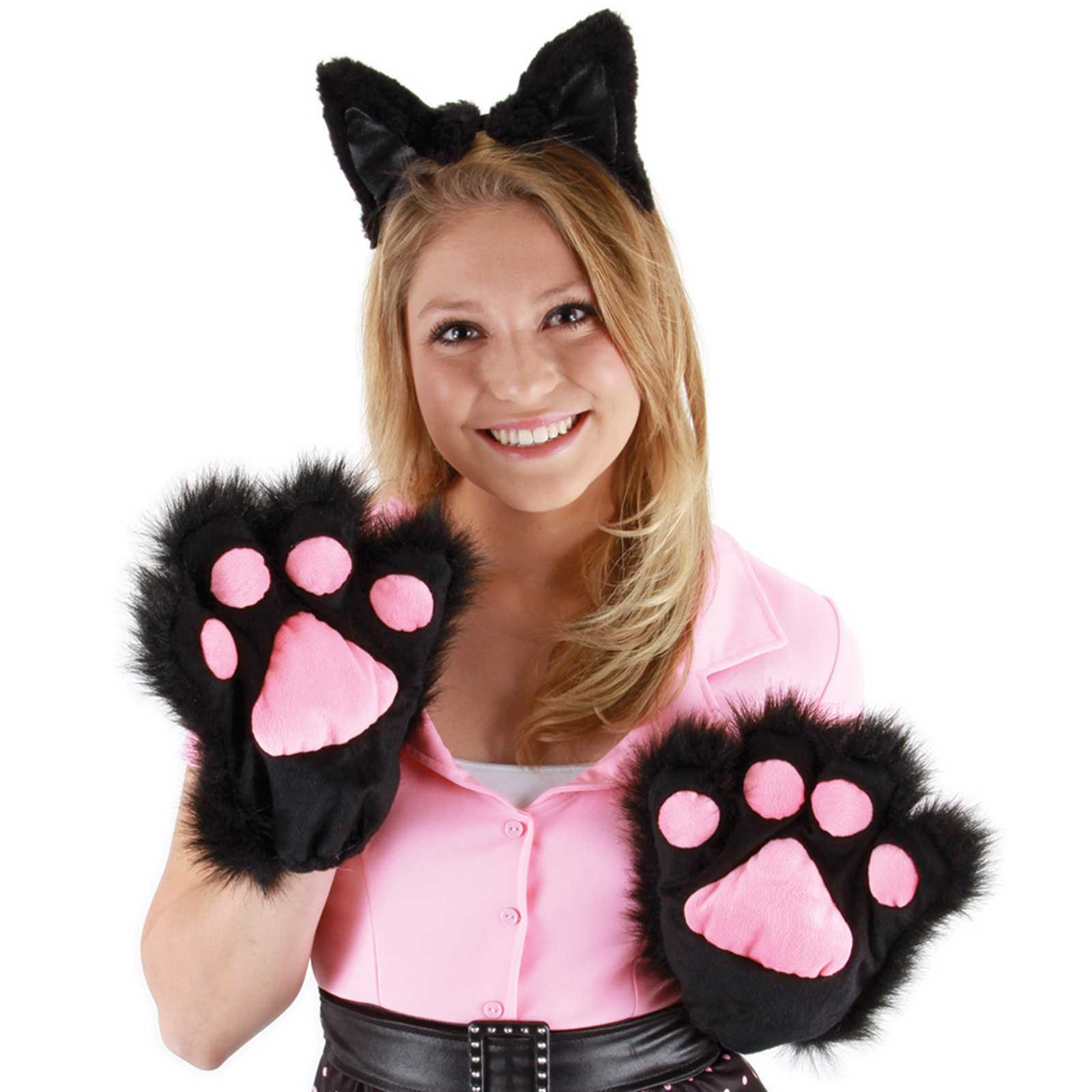 Kitty Paws (Black) Adult Gloves
