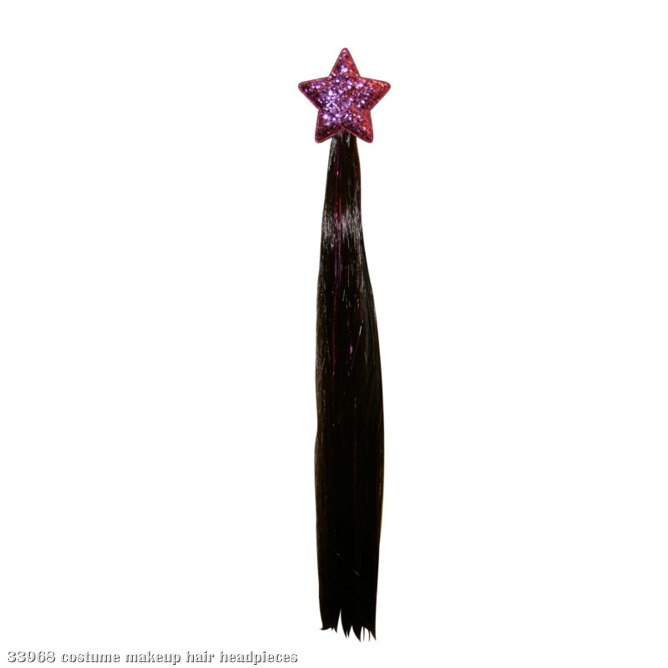 Hannah Montana Light-Up Hair Clip - Straight Hair with Star Clip
