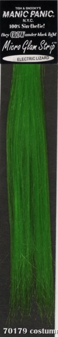 Glam Strips Hair Extension Electric Lizard Green