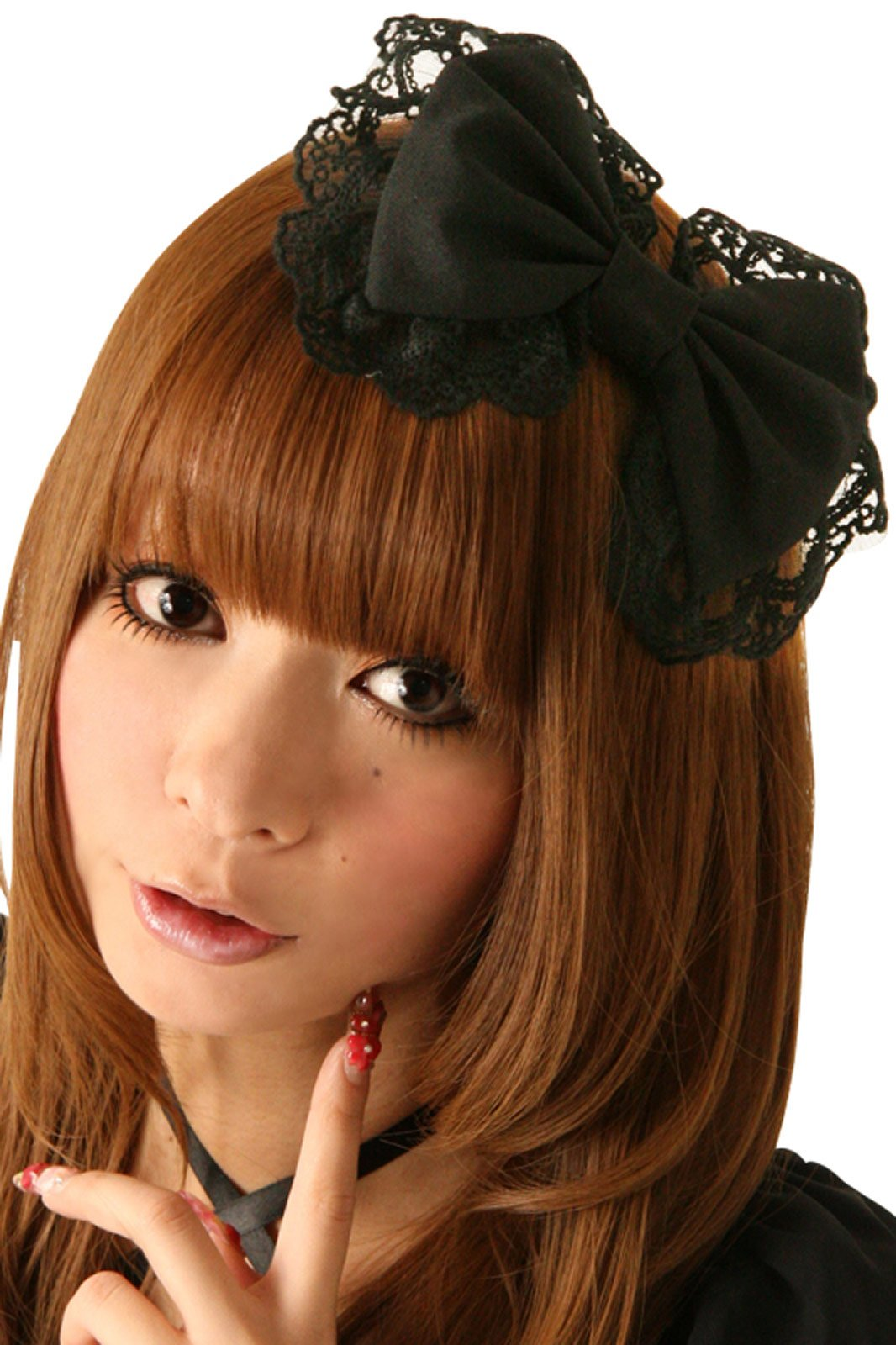 Cream Doll Black Cocoa Hair Ribbon