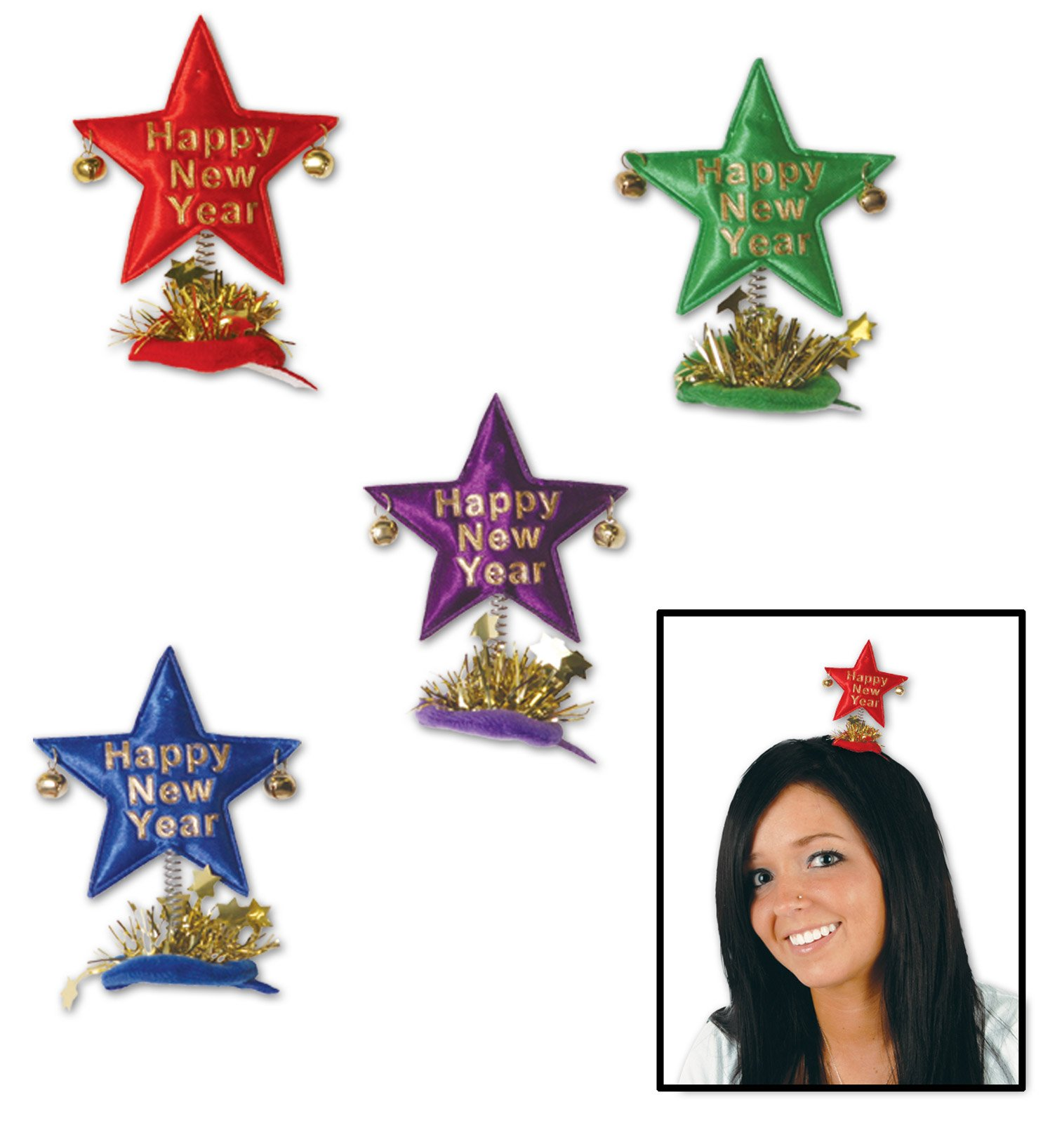 Happy New Year Star Hair Clip
