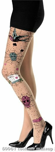 Rockabilly Full Adult Pantyhose