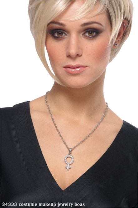 Rhinestone Mod Woman Necklace