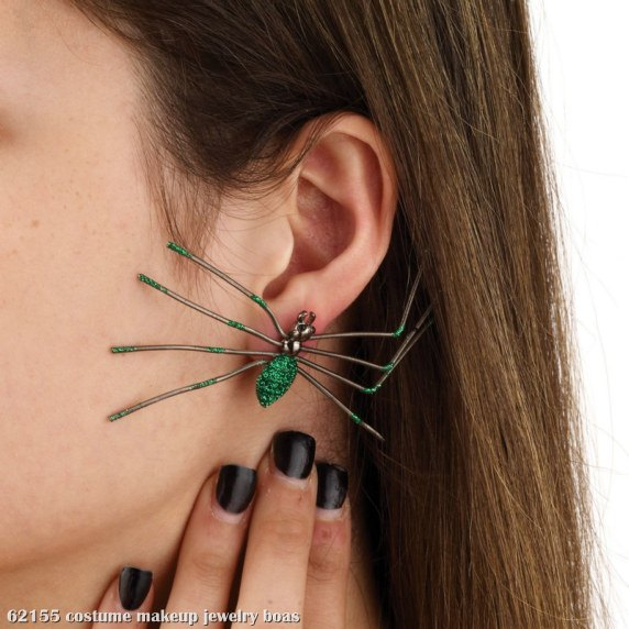 Spider Earrings (Green)