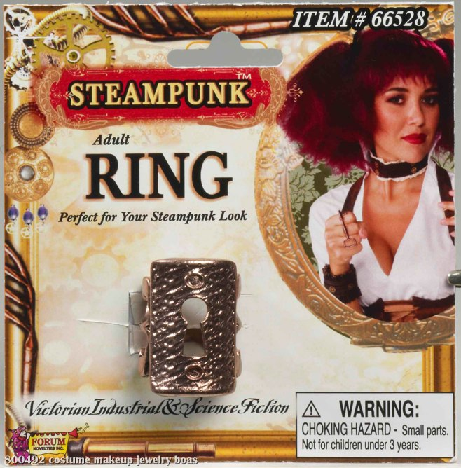 Steampunk Key Hole Ring Adult
