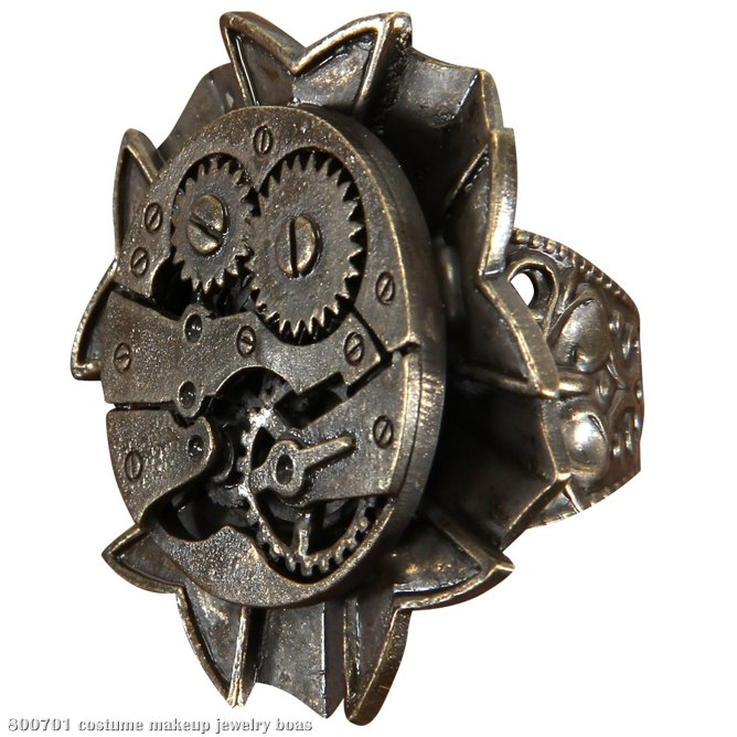 Steampunk Watch Gears Ring Adult