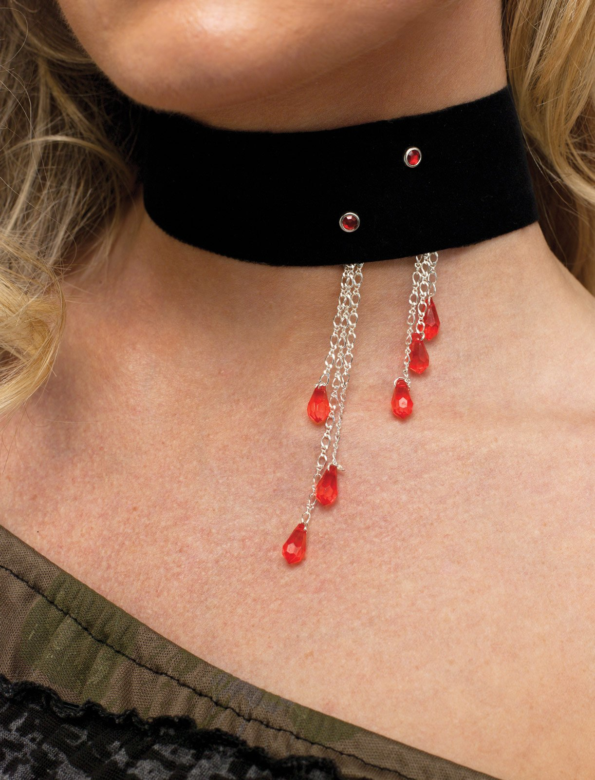 Vampiress Blood Drop Choker (Adult)