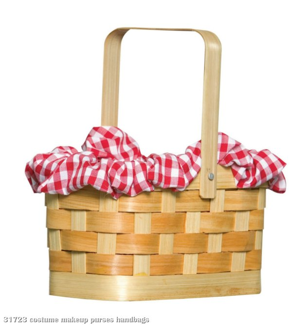 Gingham Basket - Click Image to Close