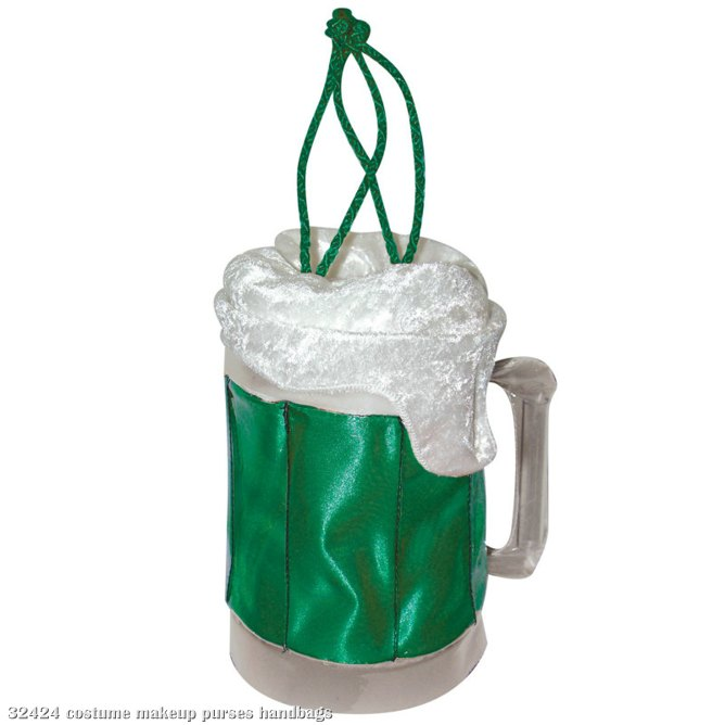 Beer Mug Purse - Green