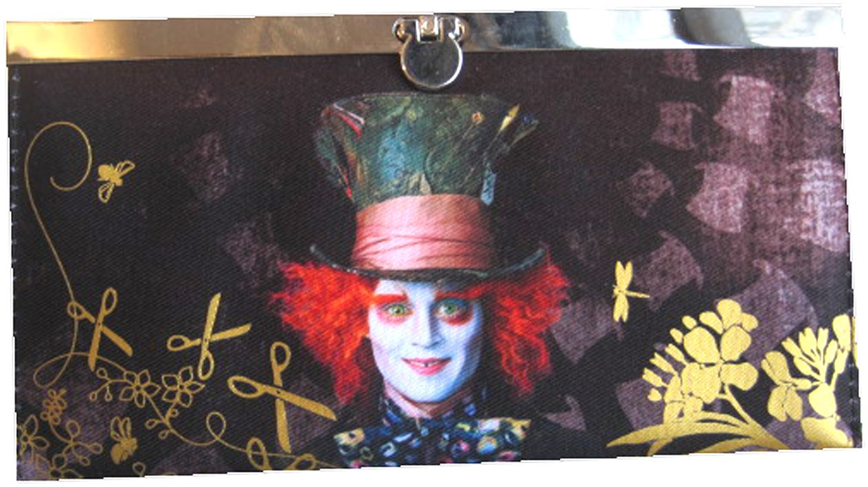 Alice in Wonderland Movie Mad Hatter Flip-Lock Wallet