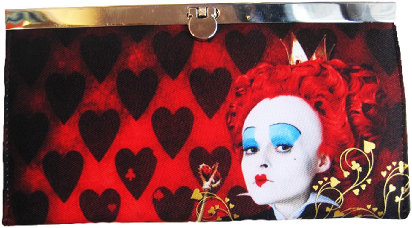Alice in Wonderland Movie Queen of Hearts Flip-Lock Wallet