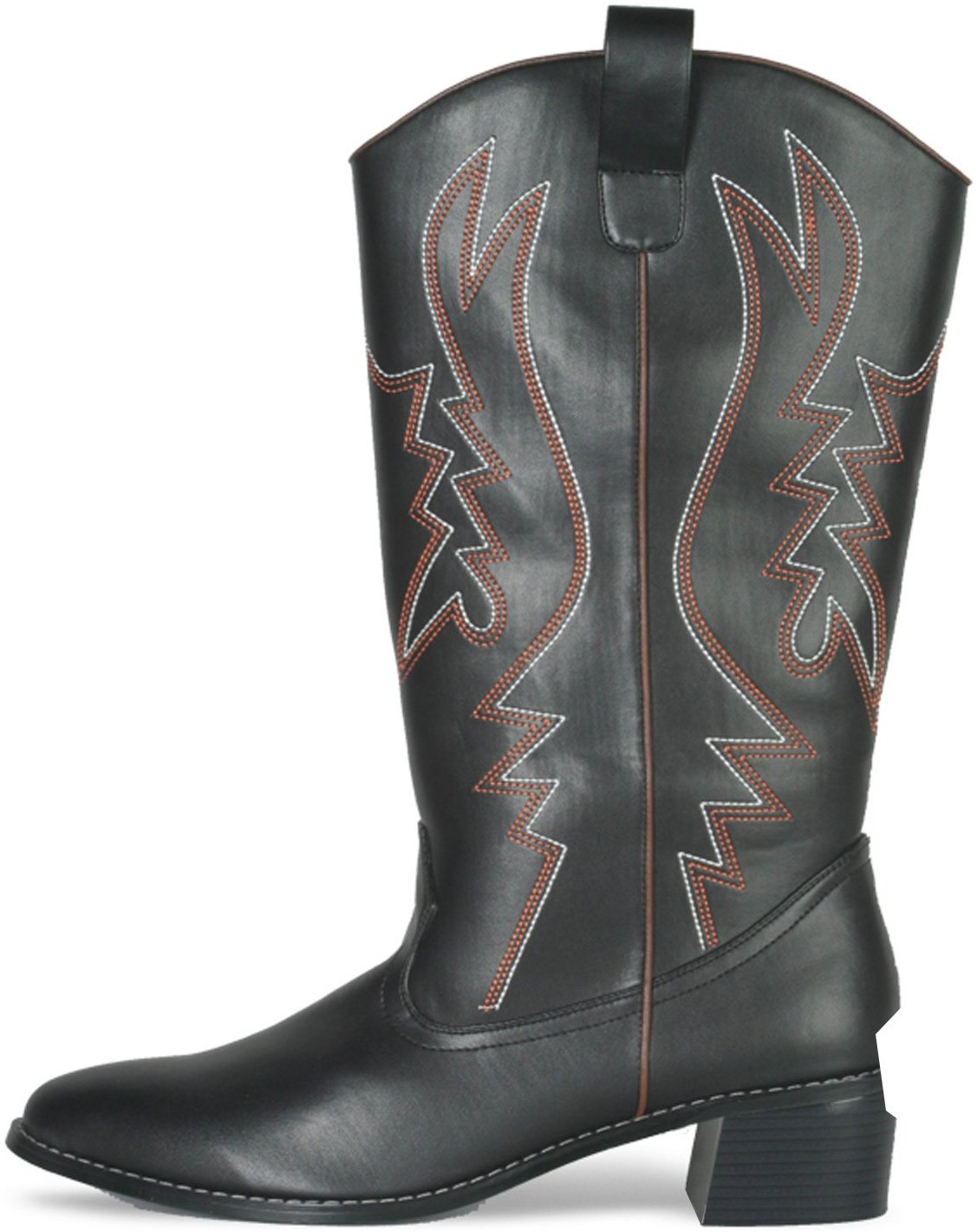 Western Cowboy (Black) Male Adult Boots