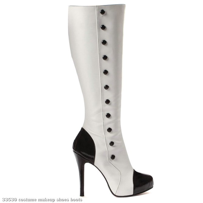 Buttons (Black/White) Adult Boots