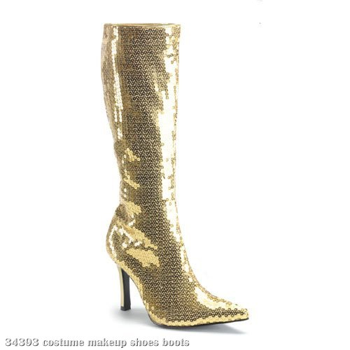 Sequin (Gold) Adult Boots