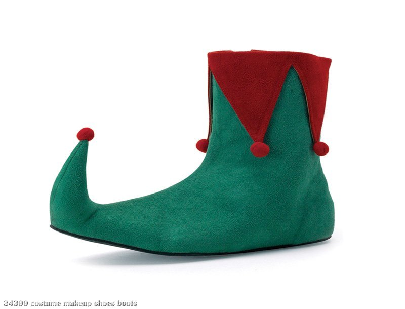 Elf (Green/Red) Adult Shoes