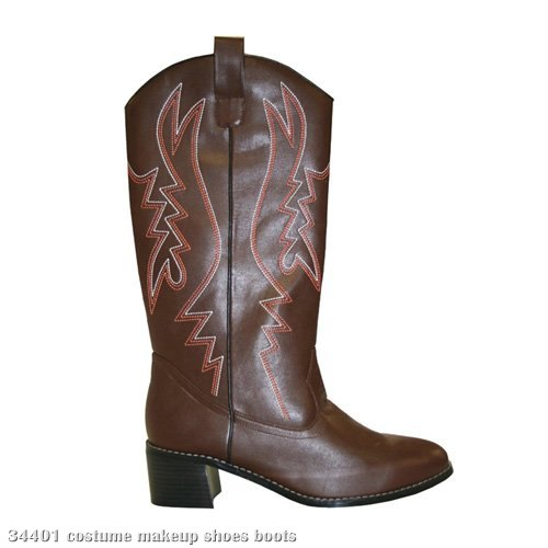 Cowboy (Brown) Adult Boots