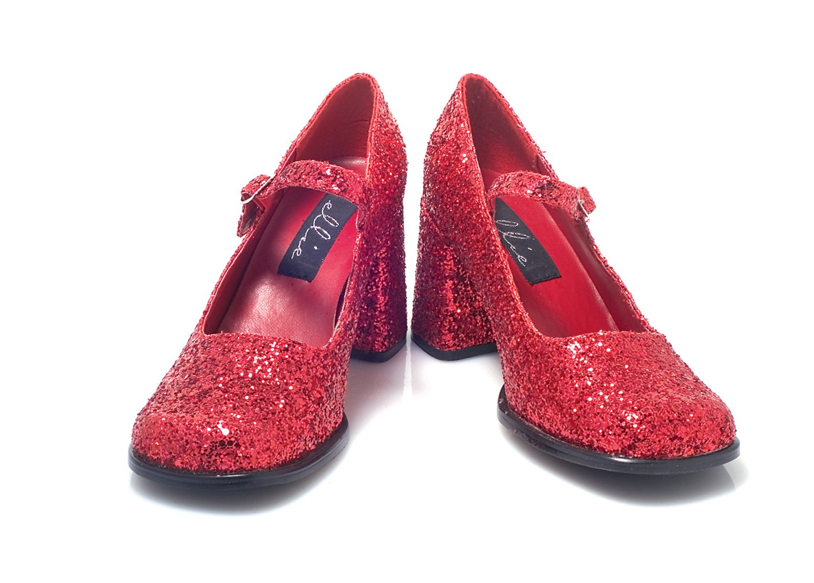 Patent Mary-Jane (Red Glitter) Adult Shoes