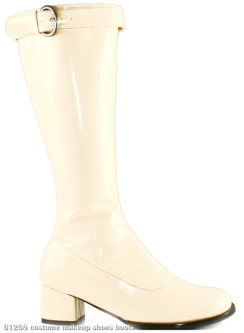 Hippie (White) Adult Boots