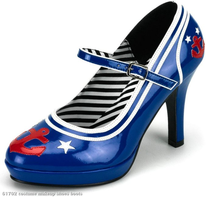 Blue Sailor Heel Adult Shoes