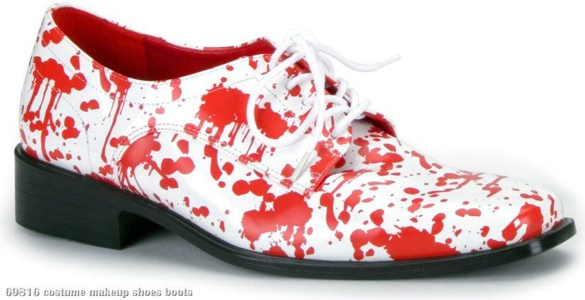 Blood Splatter Shoes Adult White