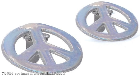Peace Sign Shoe Clip