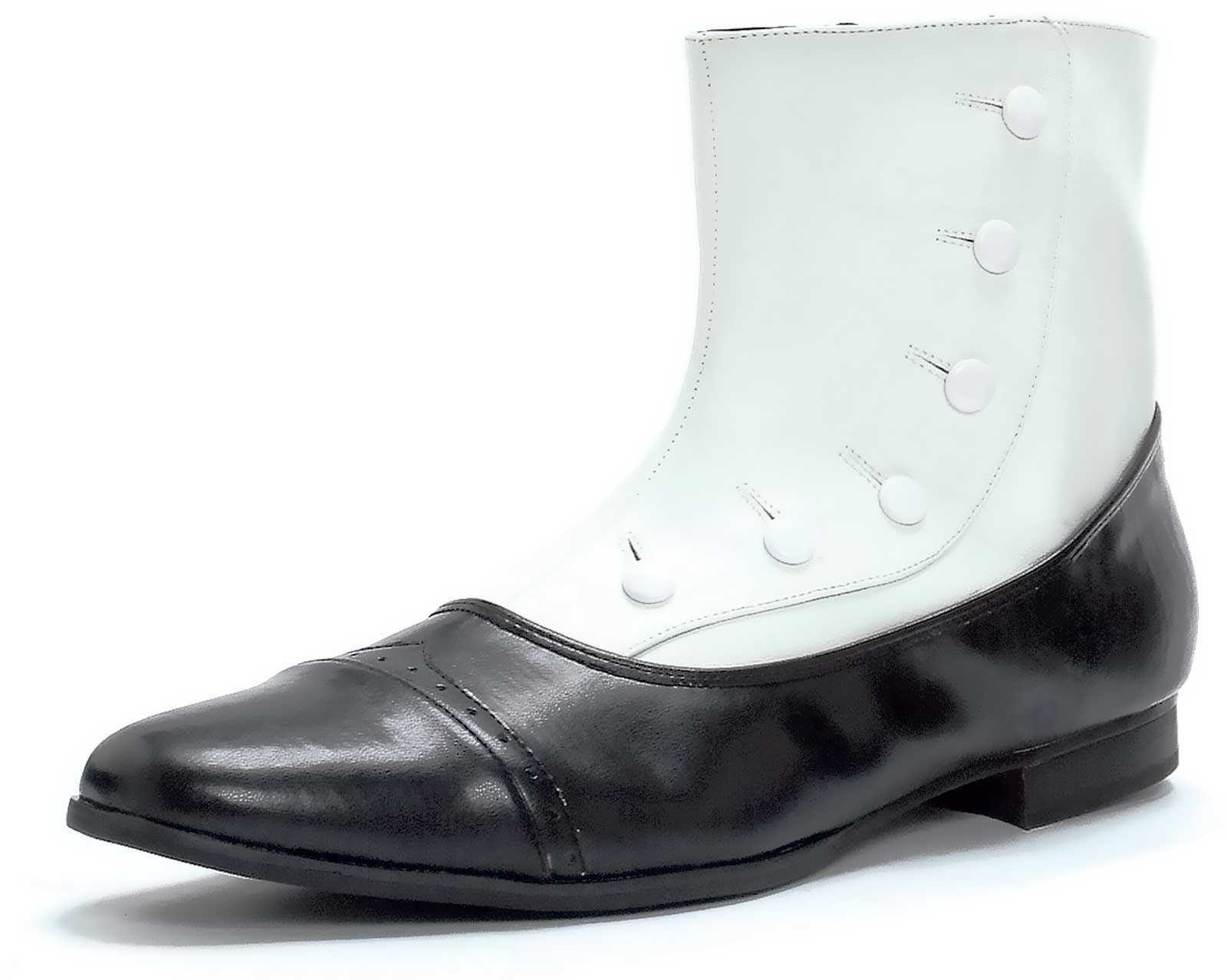 Black and White Spat Adult Shoes