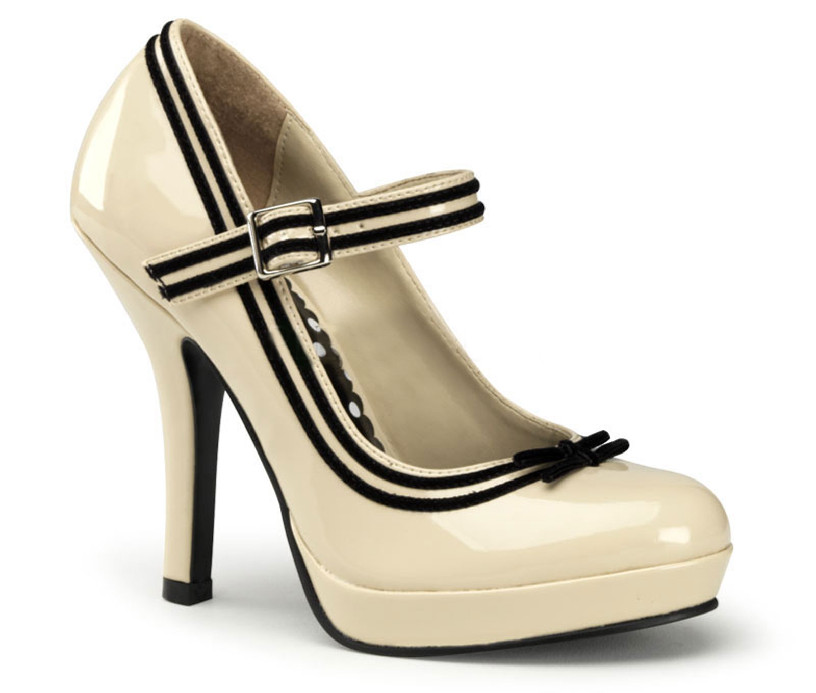 Pinup Secret (Cream Patent) Adult Shoes