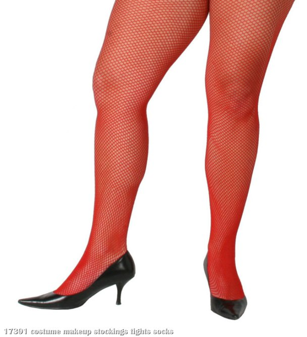 Fishnet Pantyhose Standard Red