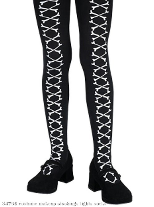 Crossed Bones Girls Tights