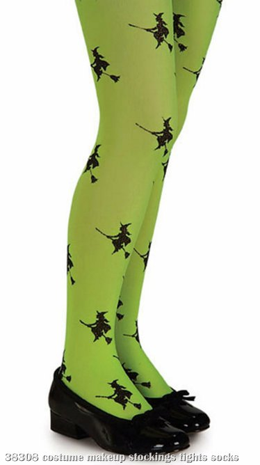 Witch (Green) Child Tights